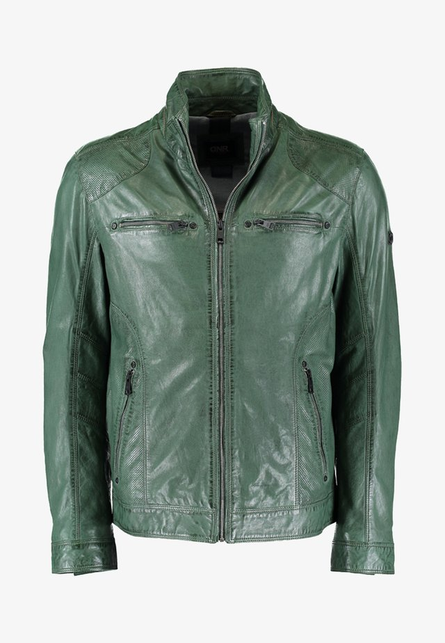 Leather jacket - tanne