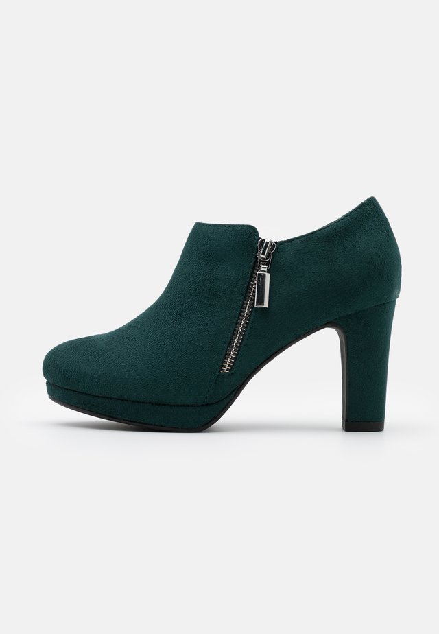 WIDE FIT WIZARD - High heeled ankle boots - dark green