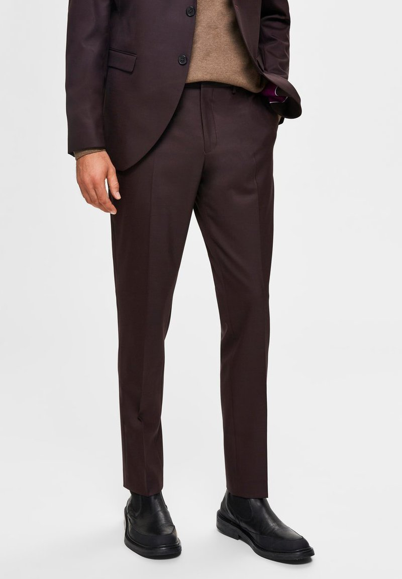 Selected Homme - Suit trousers - winetasting