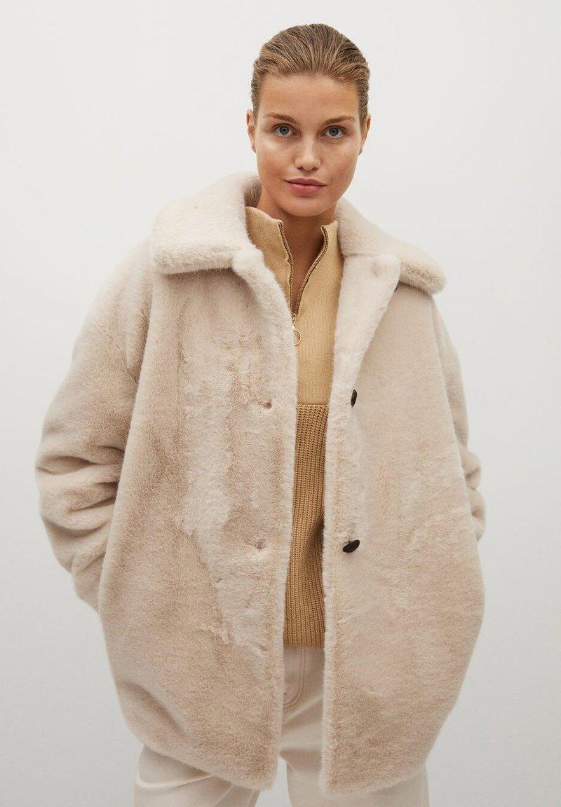Mango - WOODI - Winter coat - écru
