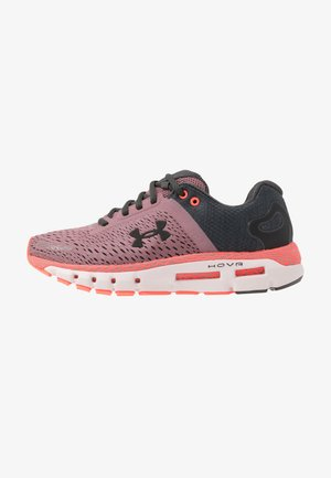 UA W HOVR INFINITE  - Neutral running shoes - hushed pink/beta/jet gray