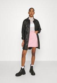 Topshop - BELTED SHAKETT - Short coat - black - 1