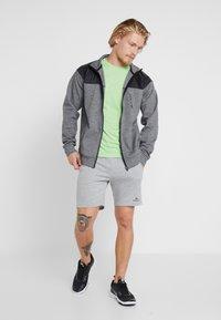 FIRST - HIGHNECK ZIP - Zip-up hoodie - medium grey melange - 1