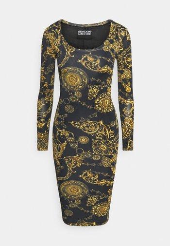 Žerzejové šaty - black/gold