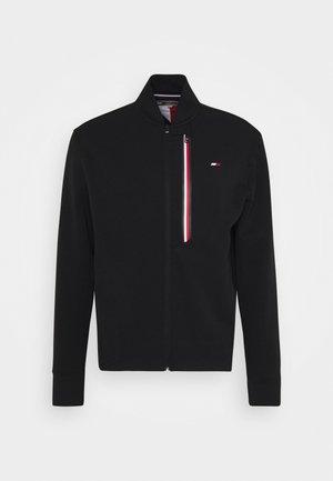 STRIPE BOMBER - Zip-up sweatshirt - black