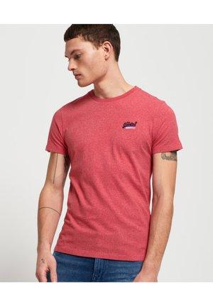 MIT STICKEREI AUS DER ORANGE LABEL KOLLEKTION - T-shirt basique - mottled red