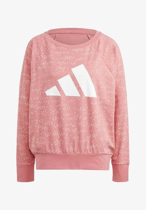 W WIN CREW MUST HAVES ENHANCED SPORTS LOOSE PULLOVER SWEATSHIRT - Sweatshirt - pink