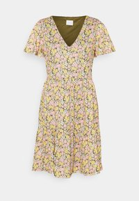 Vila - VINATALIE SHORT DRESS - Jersey dress - dark olive - 4