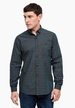 Shirt - dark green minimal check