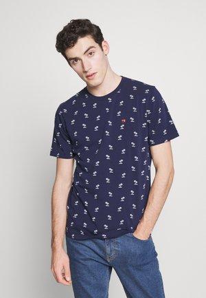 CLASSIC CREWNECK TEE - T-shirt print - dark blue