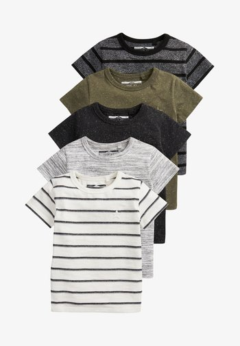 FIVE PACK - T-shirt con stampa - green