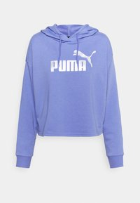 Puma - METALLIC LOGO HOODIE - Jersey con capucha - hazy blue/silver - 5