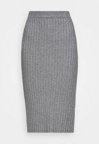 Moss Copenhagen - GWEN RACHELLE SKIRT - Pencil skirt - mottled grey - 3