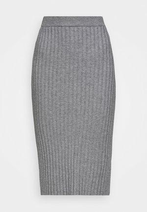 GWEN RACHELLE SKIRT - Pencil skirt - mottled grey