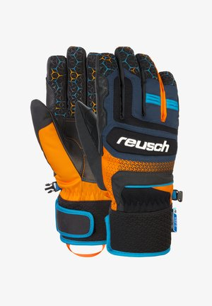 Gloves - dress blue/orange popsicl