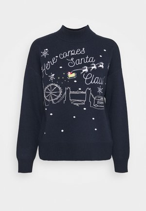 HERE COMES SANTA CLAUS - Jumper - navy