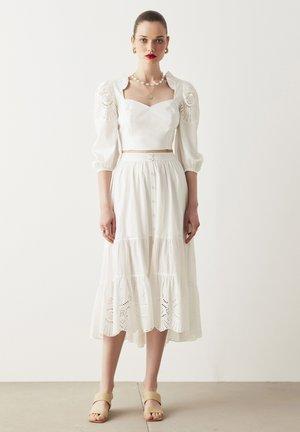 A-line skirt - off white