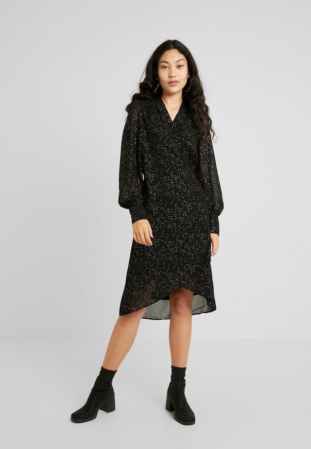 SLFANYA WRAP DRESS - Robe d'été - black