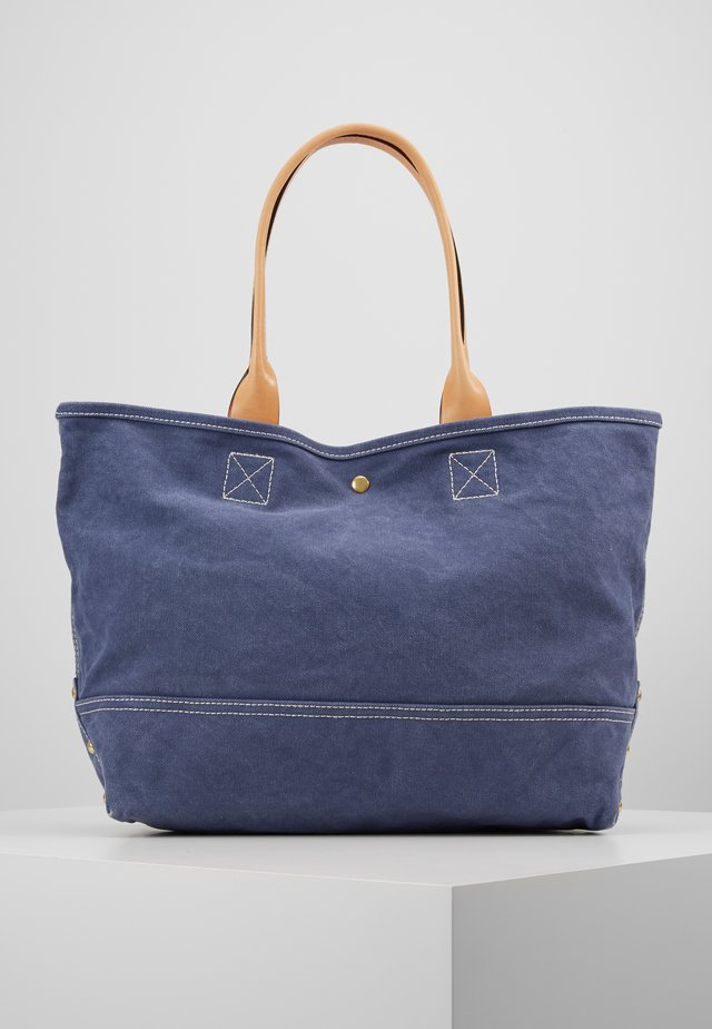WASHED LARGE TOTE - Handbag - arctic ocean