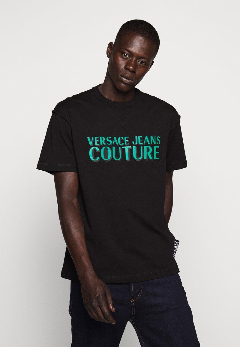 Versace Jeans Couture - LOGO - T-shirt imprimé - black