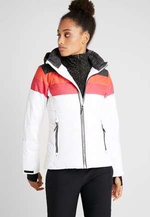 WOMAN JACKET ZIP HOOD - Kurtka narciarska - white