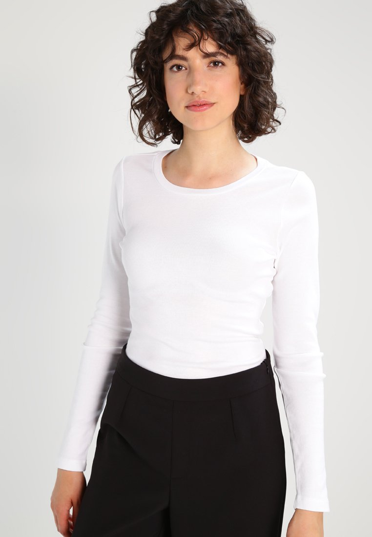 J.CREW - PERFECT FIT CREW - Long sleeved top - white