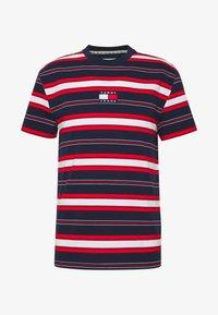 Tommy Jeans - STRIPE LOGO TEE - Print T-shirt - twilight navy / multi - 3