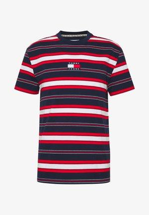 STRIPE LOGO TEE - Camiseta estampada - twilight navy / multi