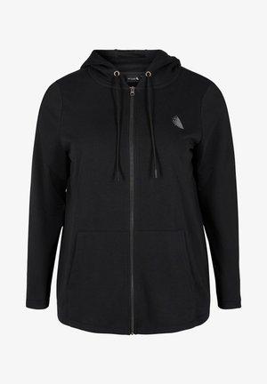 MIT REISSVERSCHLUSS UND KAPUZE - Bluza rozpinana - black
