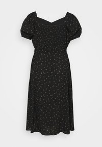 Forever New Curve - HALSEY PUFF SLEEVE MIDI DRESS - Day dress - black - 1