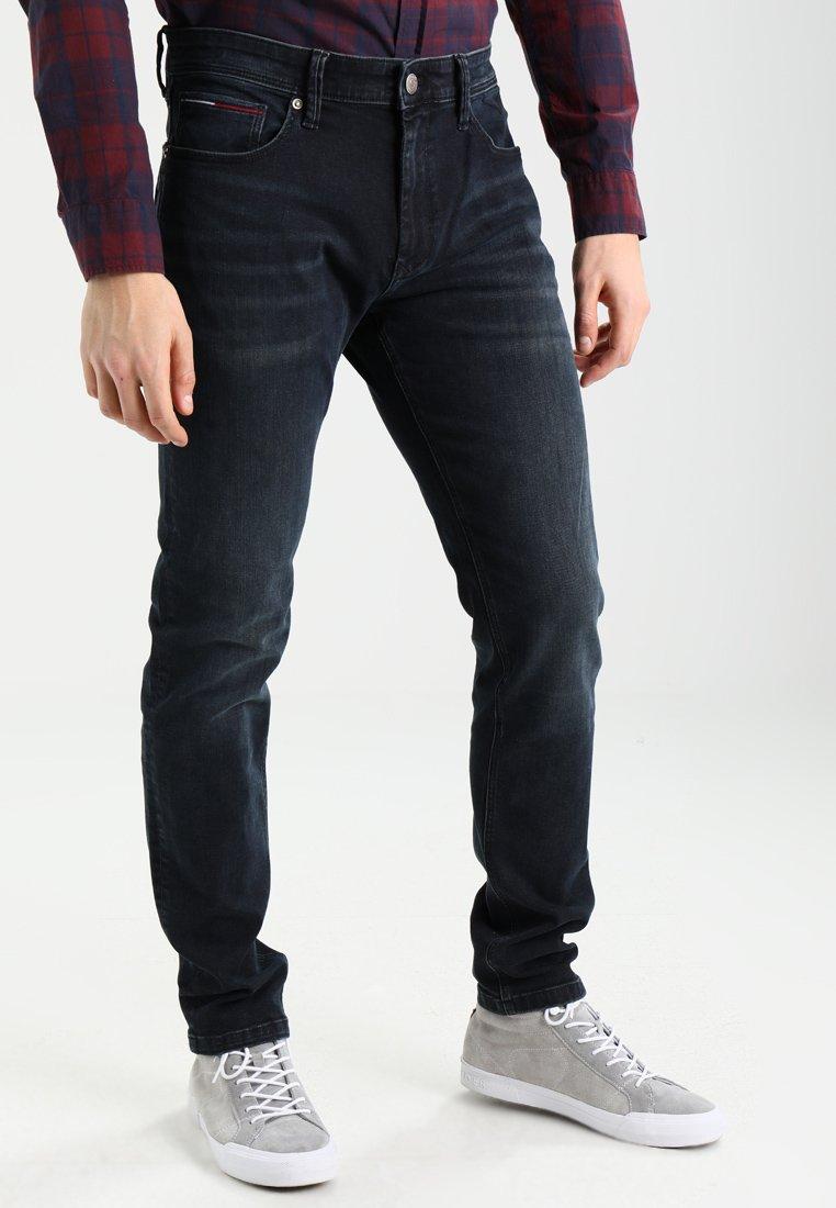 Tommy Jeans - SLIM TAPERED STEVE COBCO - Slim fit -farkut - cobble black comfort