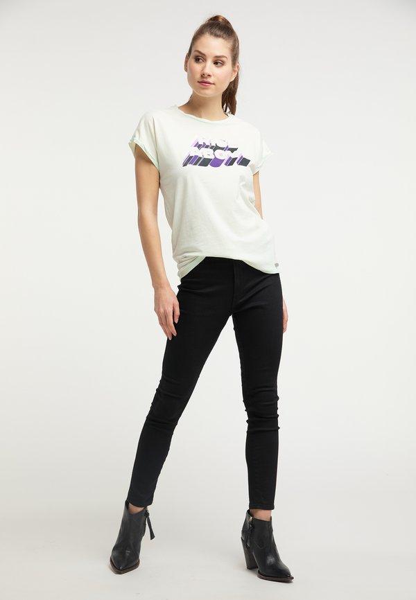 Petrol Industries T-shirt z nadrukiem - soothing sea Nadruk Odzież Damska LWAG EA 9