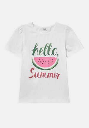 ADANE - Print T-shirt - white