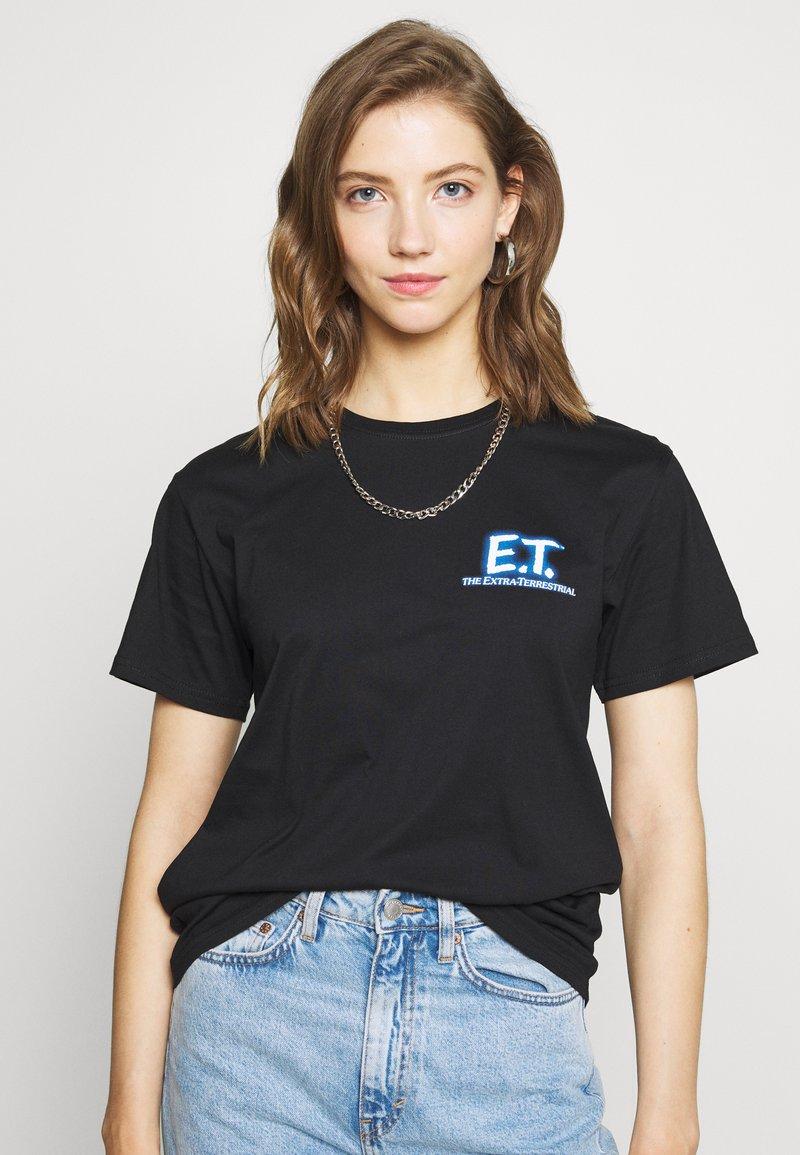 Merchcode - LADIES E.T. LOGO AND SPACE TEE - Camiseta estampada - black