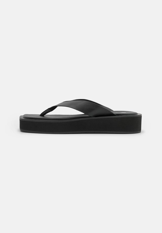 VEGAN GITA  - Tongs - black dark