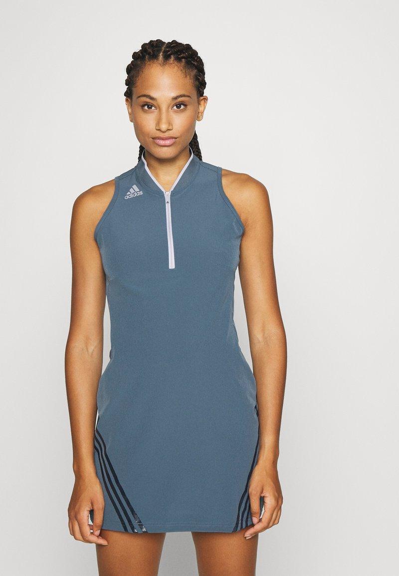adidas Golf - 3 STRIPE DRESS - Sportovní šaty - legacy blue