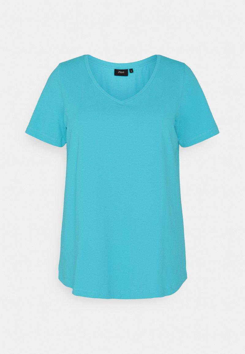 Zizzi - Basic T-shirt - river blue