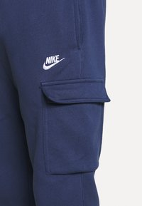 Nike Sportswear - CLUB PANT - Cargo trousers - midnight navy/white - 4