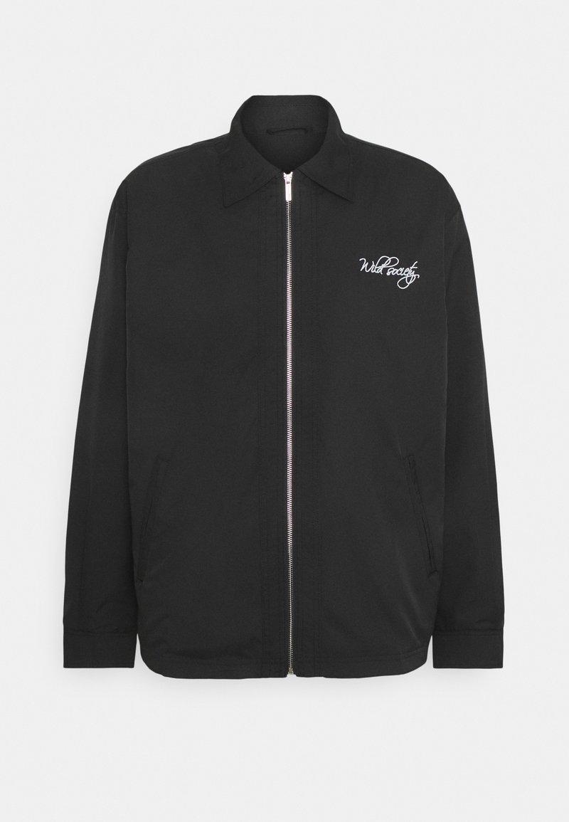 Pegador - EMBROIDERY JACKET - Light jacket - black