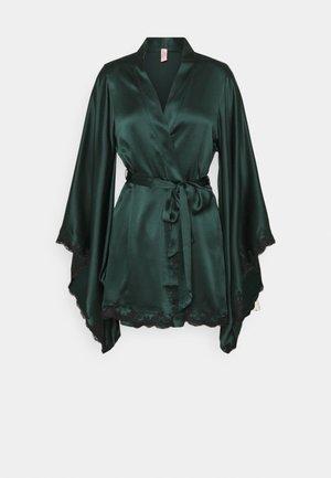 KIMONO - Dressing gown - dark green/black