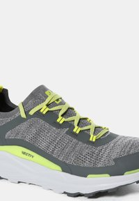 The North Face - M VECTIV ESCAPE - Hiking shoes - zincgrey sulphurspringgrn - 6