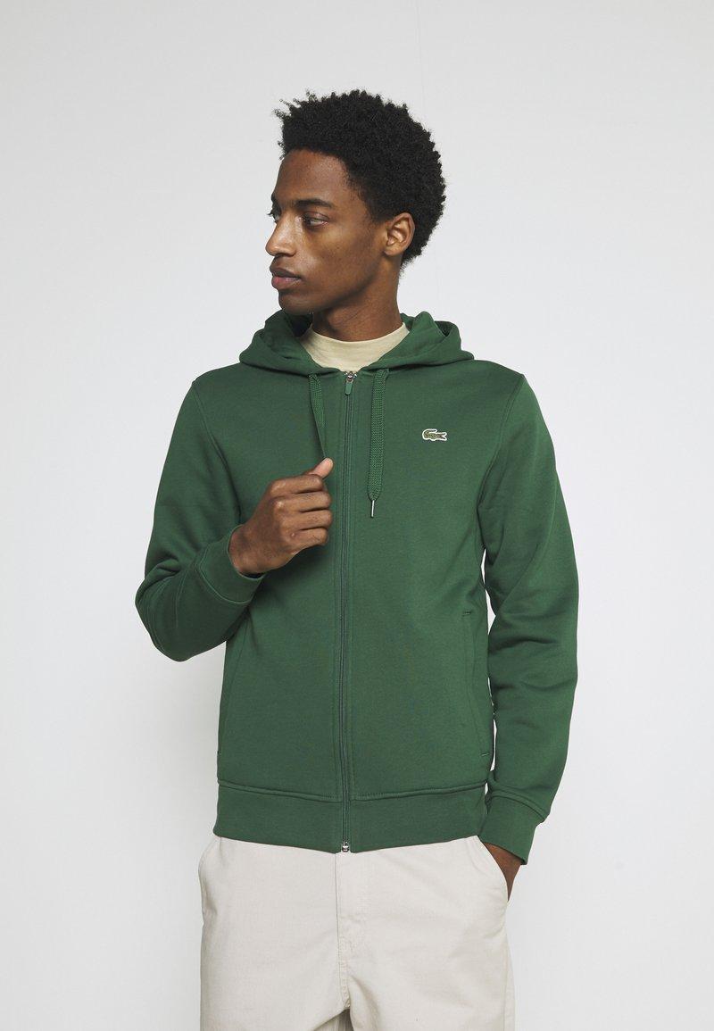 Lacoste - CLASSIC HOODIE - Zip-up sweatshirt - green
