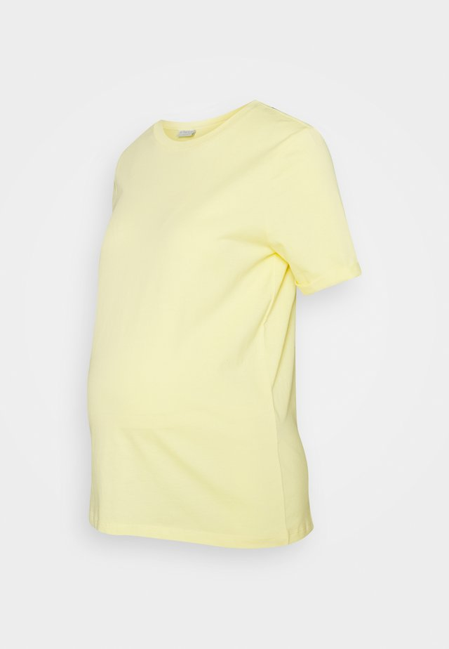 PCMRIA FOLD UP SOLID TEE - Basic T-shirt - yellow