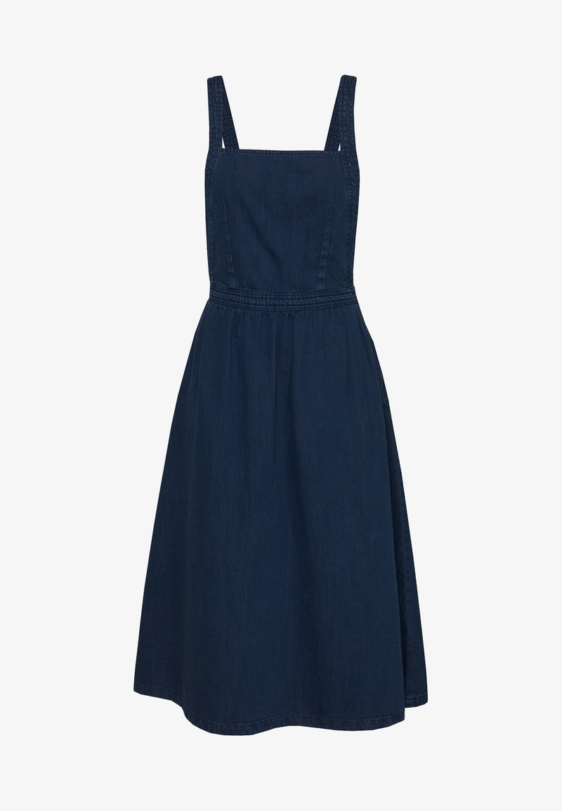 Monki - LAUREN DRESS - Dongerikjole - blue medium dusty