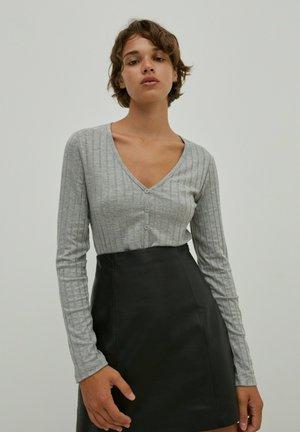 ANJANA - Long sleeved top - graumeliert