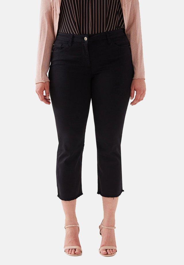 PANTALONI KICK FLARE IN COTONE - Pantalones - nero