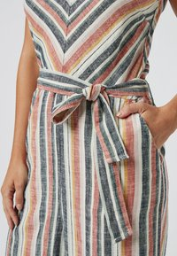 Next - MULTI STRIPE LINEN BLEND TIE SHOULDER JUMPSUIT - Jumpsuit - orange - 2