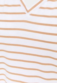 Anna Field - T-shirts med print - white/camel - 2