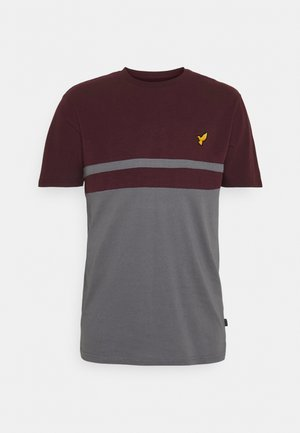 T-shirt z nadrukiem - bordeaux/grey