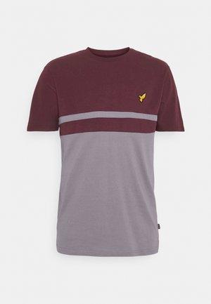 T-shirt med print - bordeaux/grey